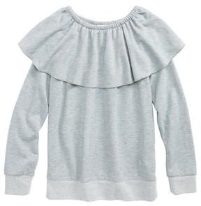 Splendid Girl's Ruffle French Terry Sweatshirt