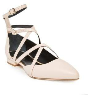 Lanvin Strappy Leather Flats