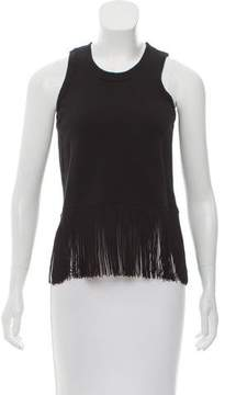Timo Weiland Sleeveless Fringe-Trimmed Top