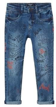 MANGO Skinny printed jeans