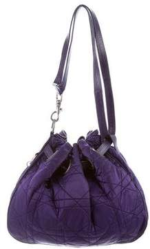 Christian Dior Nylon Cannage Drawstring Bag