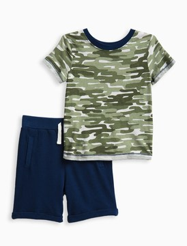 Splendid Little Boy Camo Tee Set