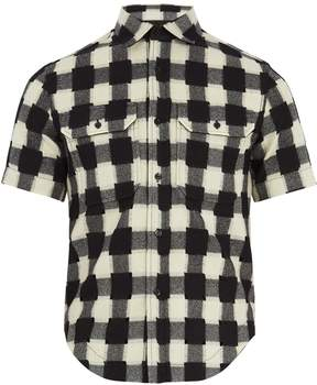 Raf Simons Shrunken-fit gingham-wool shirt