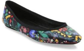 Alice + Olivia Whitney Leather Floral Flats