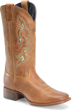 Sonora Caramel Ava Leather Cowboy Boot