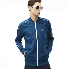 Lacoste Men's Banana Collar Square Knit Sweat Jacket