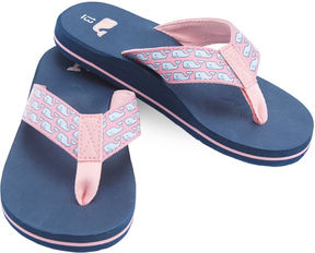 Vineyard Vines Girls Vineyard Whale Flip Flop