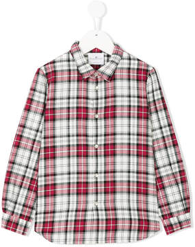 Le Petit Coco press studs checked shirt