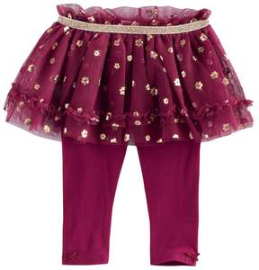 Baby Starters Baby Girl Foil Flower Tutu Leggings