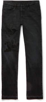 Gucci Slim-Fit Embroidered Denim Jeans