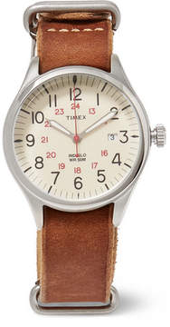 Timex Waterbury United Stainless Steel And Leather Watch
