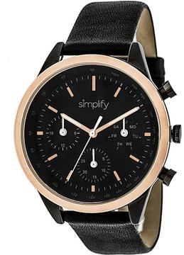 Simplify The 3800 Collection SIM3804 Unisex Watch with Leather Strap