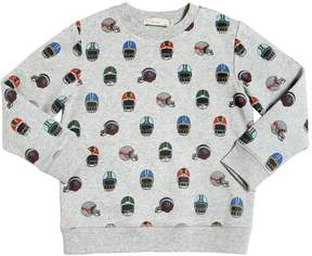 Stella McCartney Helmet Print Organic Cotton Sweatshirt