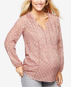Daniel Rainn Maternity Embroidered Top