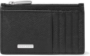 HUGO BOSS Signature Cross-Grain Leather Zipped Cardholder