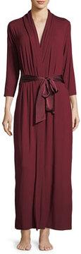 Fleurt Fleur't Forever Silk-Trim Long Robe