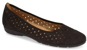 Gabor Women's Perforated Ballet Flat
