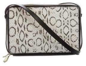 Reed Krakoff Snakeskin Double Zip Crossbody Bag