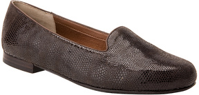 Ros Hommerson Brown Lizard Omara Leather Loafer - Women