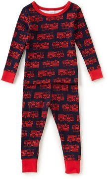 Starting Out Little Boys 2T-4T Firetruck-Print Top & Pants Pajama Set