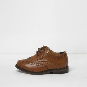 River Island Mini boys tan brogues