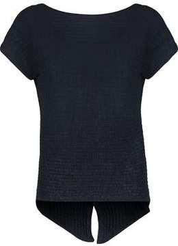 Autumn Cashmere Ribbed Cotton Top