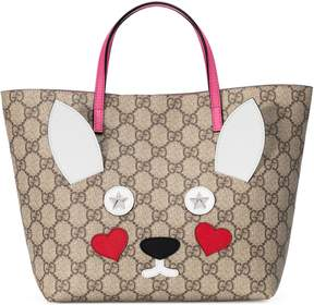 Gucci Children's rabbit tote - GG SUPREME - STYLE