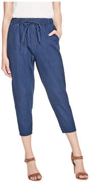 GUESS Striped Tapered Crop Pants