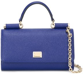 Dolce & Gabbana mini 'Von' wallet crossbody bag - BLUE - STYLE