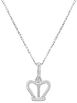 Damiani 18K White Gold & 0.01ct Diamond Pendant Necklace