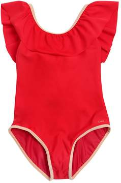 Chloé Lycra One Piece Swimsuit W/ Ruffle