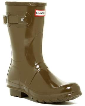 Hunter Waterproof Short Glossy Boot (Women)