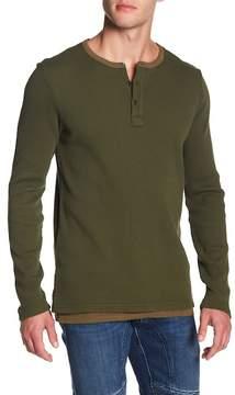 Scotch & Soda Long Sleeve Thermal Henley Shirt