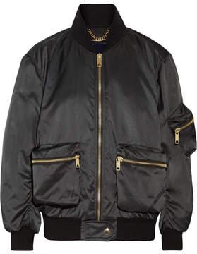 Burberry Satin-twill Bomber Jacket - Black