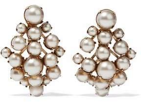 Elizabeth Cole Gold-Tone Faux Pearl Earrings