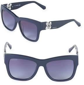 Swarovski Women's 54MM Crystal Square Sunglasses