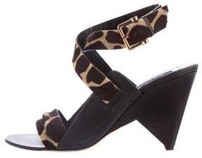 Derek Lam Ponyhair Ankle Strap Sandals