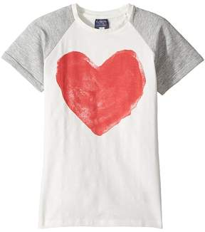 Toobydoo Graphic Heart T-Shirt Girl's T Shirt