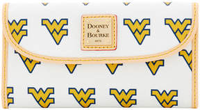 Dooney & Bourke West Virginia Mountaineers Large Continental Clutch - WHITE - STYLE