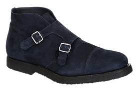 Andrea Ventura Firenze Men's Blue Suede Ankle Boots.