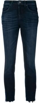 Cambio lace hem skinny jeans
