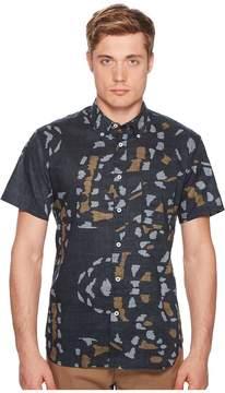 Billy Reid Short Sleeve Tuscumbia Print Shirt Men's Clothing
