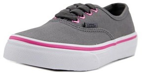 Vans Authentic Youth Round Toe Canvas Gray Sneakers.