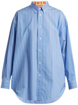 Balenciaga Contrast appliqué cotton shirt
