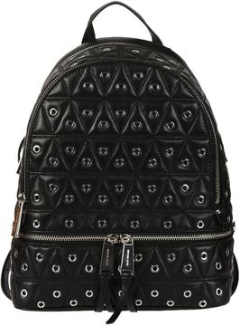 Michael Kors Quilted Eyelet Backpack - BLACK - STYLE