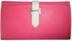 Hermes Béarn leather companion travel wallet - PINK - STYLE