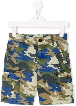 Zadig & Voltaire Kids camouflage cargo shorts