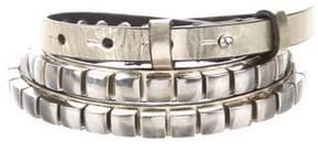 DSQUARED2 Metallic Stud-Embellished Belt w/ Tags
