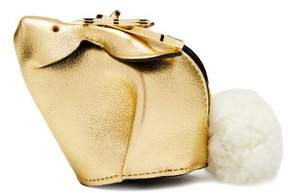 Loewe Bunny Leather And Shearling Coin Purse - Womens - Gold