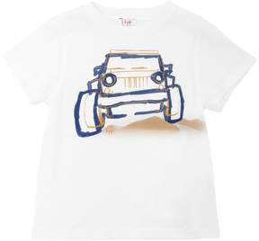 Il Gufo Truck Print Cotton Jersey T-Shirt